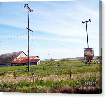 Canvas Print featuring the photograph Time Passed By by Bobbee Rickard
