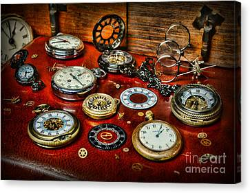 Clockmaker Canvas Print - Time - Pocket Watches  by Paul Ward