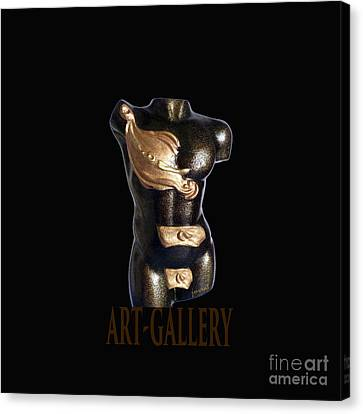 The Time Sculpture Surreal , M1 Canvas Print