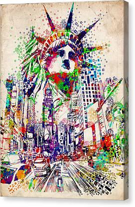 Times Square 3 Canvas Print by Bekim Art