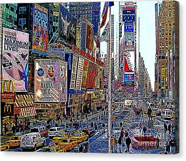 Manhatten Canvas Print - Time Square New York 20130430v2 by Wingsdomain Art and Photography
