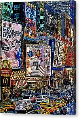 Time Square New York 20130430v3 Canvas Print by Wingsdomain Art and Photography