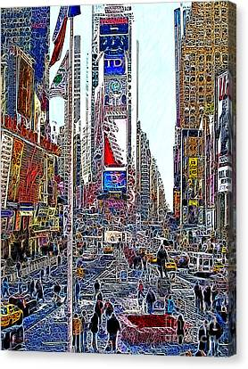Manhatten Canvas Print - Time Square New York 20130503v6 by Wingsdomain Art and Photography
