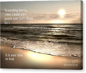 Time To Heal Canvas Print by Jeffery Fagan