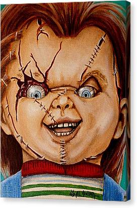 Chucky Canvas Print - Time To Play by Al  Molina