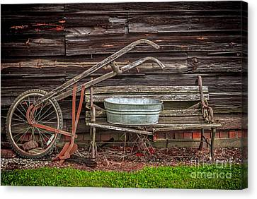 Time To Plow Canvas Print by Marion Johnson