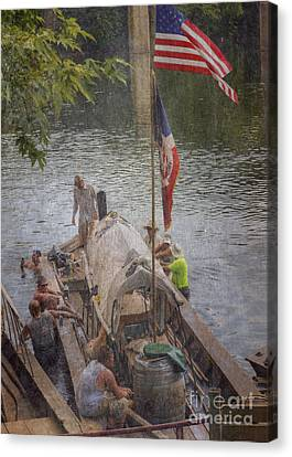 Canvas Print featuring the photograph Time To Relax by Pete Hellmann