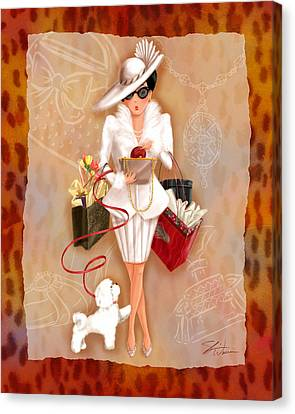 Time To Shop 1 Canvas Print by Shari Warren