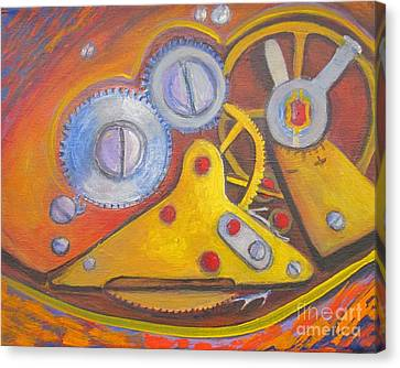 Time Unfolding Study Canvas Print by Vivian Haberfeld