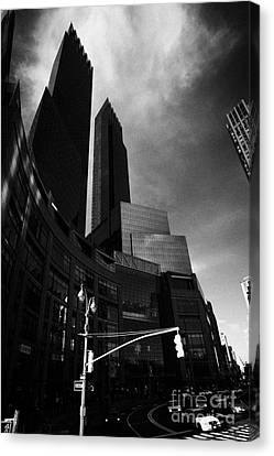 Time Warner Center On Columbus Circle New York City Canvas Print by Joe Fox