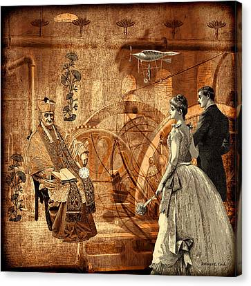 Technical Canvas Print - Timekeeper Steampunk by Bellesouth Studio