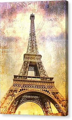Digital Touch Canvas Print - Timeless  Eiffel Tower by Carol Groenen