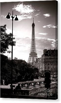 Timeless Eiffel Tower Canvas Print by Olivier Le Queinec