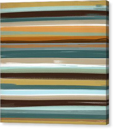 Green And Yellow Abstract Canvas Print - Timeless by Lourry Legarde
