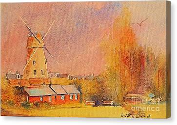 Canvas Print featuring the painting Timeless Rye by Beatrice Cloake