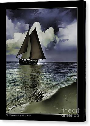 Timeless Sailingboat Canvas Print by Pedro L Gili