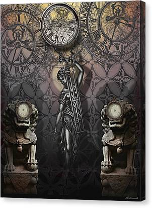 Timepiece Canvas Print by Larry Butterworth