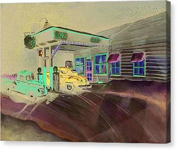 Times Past Gas Station Canvas Print by Rick Huotari