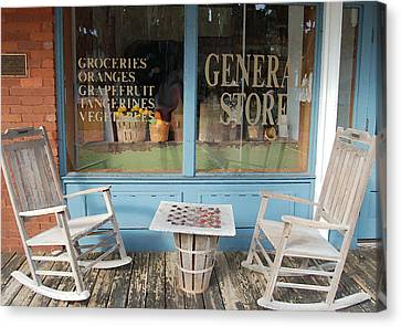 Grocery Store Canvas Print - Times Past by Kathy  Burrows