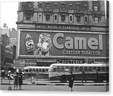 Times Square Advertising Canvas Print by John Vachon