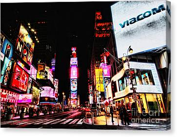 Times Square Canvas Print by Andrew Paranavitana