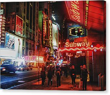 Times Square  Canvas Print by Anthony  Myers