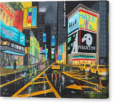 Times Square Canvas Print by Bev Conover