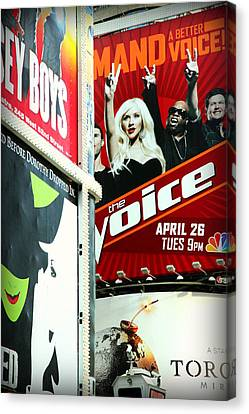 Times Square Billboards Canvas Print