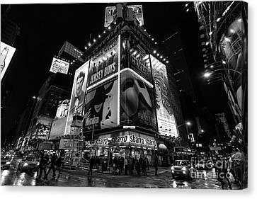 Times Square Black And White II Canvas Print by John Farnan