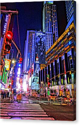Times Square Canvas Print by Dan Sproul
