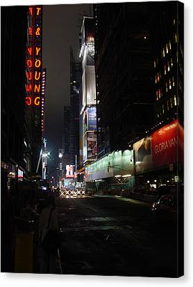 Times Square From 7th Ave Canvas Print