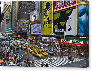 Times Square Canvas Print by Galexa Ch