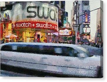 Times Square Canvas Print by George Atsametakis