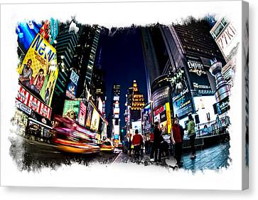 Canvas Print featuring the photograph Times Square by James Howe
