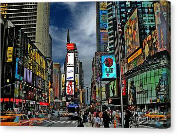 Times Square Canvas Print by Jeff Breiman
