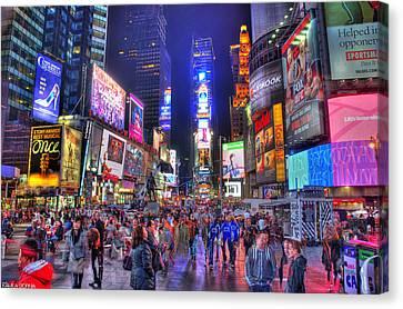 Times Square Canvas Print by Kamila  Gornia