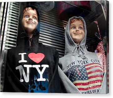 Times Square Kids Canvas Print by Ed Weidman