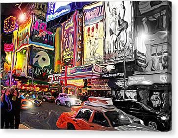 Times Square Lights Canvas Print