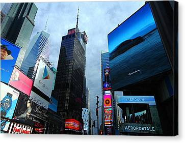 Times Square Canvas Print by Linda Edgecomb