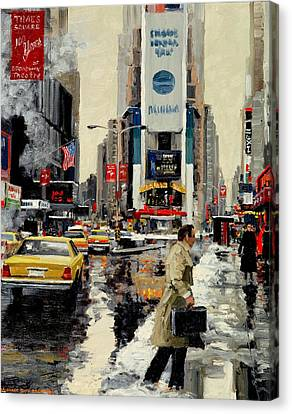 Realistic Canvas Print - Times Square '95 by Michael Swanson