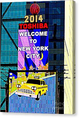 Times Square New Years Eve Ball Canvas Print by Ed Weidman