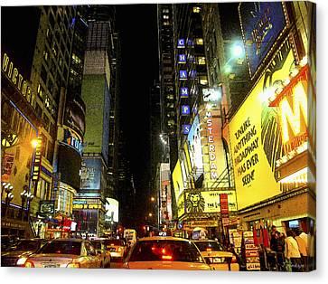 Times Square Photofresco Canvas Print by Joseph Hedaya