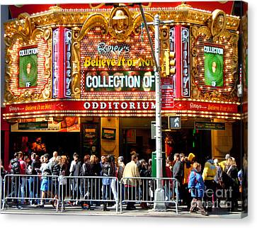 Times Square Ripleys Odditorium Canvas Print