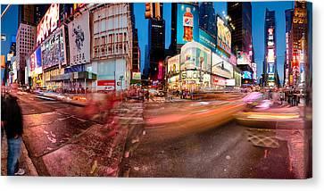 North America Canvas Print - Times Square Series by Josh Whalen