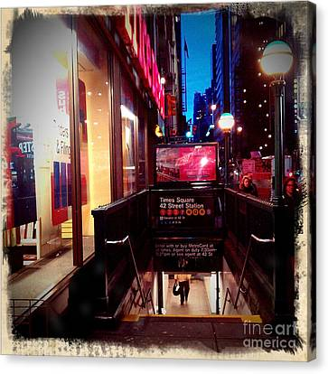 Times Square Station Canvas Print by James Aiken