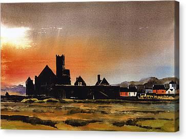 Timoleague Abbey West Cork Canvas Print by Val Byrne