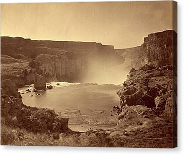 Timothy H. Osullivan, Shoshone Falls, Snake River, Idaho Canvas Print by Quint Lox