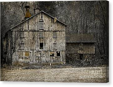 Tin Cup Chalice Rustic Barn Canvas Print by John Stephens