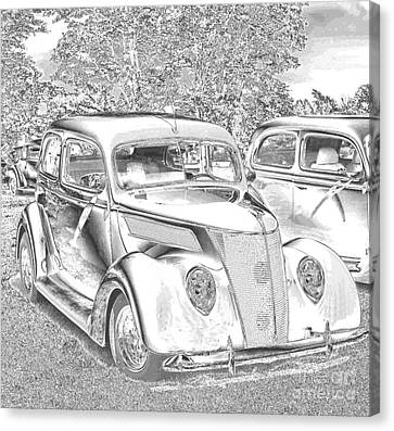 Glass And Metal Art Canvas Print - Tin Lizzie Ford by Luther Fine Art