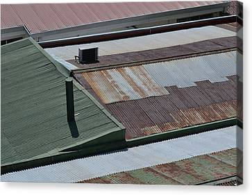 Tin Rooftops Of San Jose Canvas Print by Bill Mock